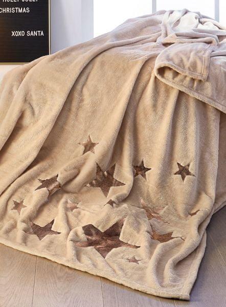 s.Oliver deka hvězda 150x200 cm hnědá