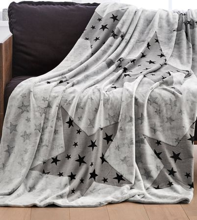 s.Oliver odeja zvezda, 150x200 cm, siva