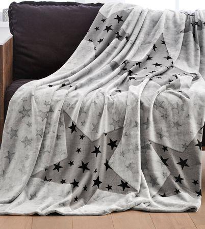 s.Oliver deka hvězda 150x200 cm šedá