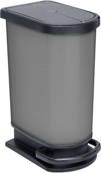 Rotho Pedálový odpadkový koš Paso 50 l, carbon
