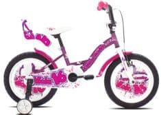 Capriolo otroško dekliško kolo BMX Viola 16'', vijolično