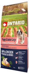 Ontario Puppy & Junior Large Chicken & Potatoes 12kg