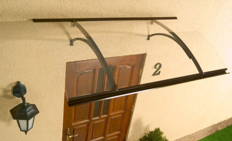 LanitPlast vchodová stříška LANITPLAST OLOR 160/87 hnědá