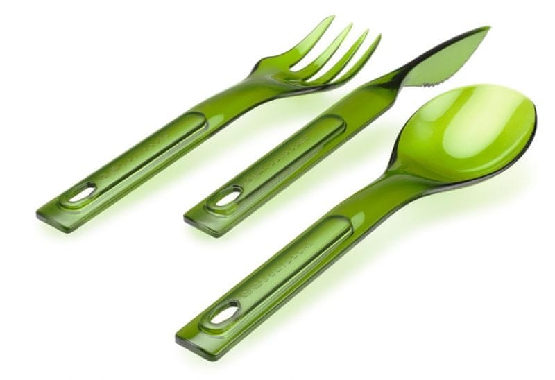 Gsi Stacking cutlery set green