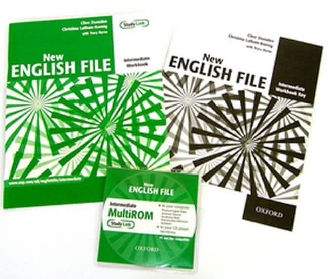 Oxenden Clive: New English File Intermediate Workbook with Answer Booklet and MultiROM Pack