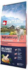 Ontario Large Weight Control Turkey & Potatoes 12kg