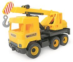 Wader Auto middle Truck Dźwig Żółty