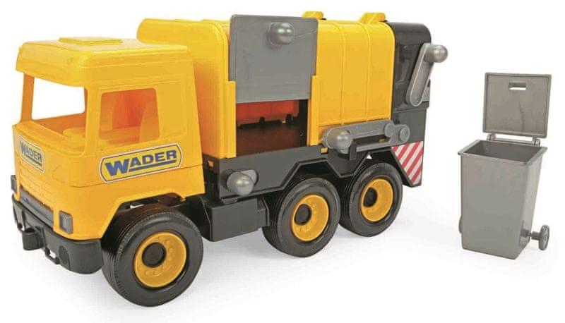 Wader Auto middle Truck popelář žlutý