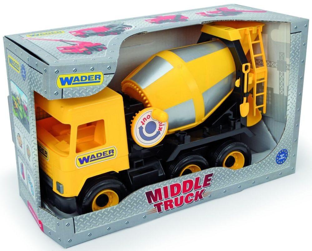Wader Auto middle Truck domíchávač žlutý
