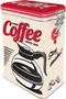 1 - Postershop Blaszany pojemnik z klipsem Strong Coffee Served Here