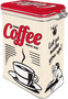 2 - Postershop Blaszany pojemnik z klipsem Strong Coffee Served Here