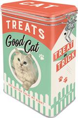 Postershop Blaszany pojemnik z klipsem Good Cat Treats