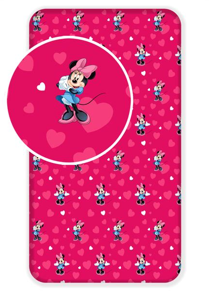 Jerry Fabrics Bavlněné prostěradlo Minnie 2017 90x200 cm