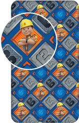 Jerry Fabrics Bavlněné prostěradlo Bořek stavitel 90x200 cm