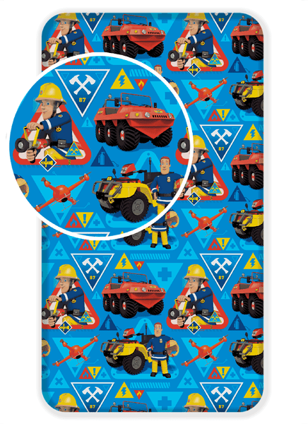 Jerry Fabrics Bavlněné prostěradlo požárník Sam 90x200 cm