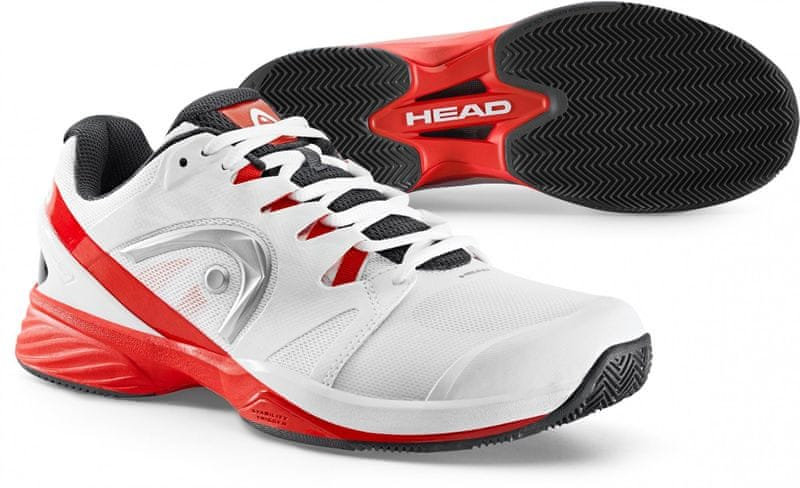 Head Nitro Pro Clay Men White/Red 44,0