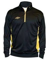 Umbro Mikina Adnan 1/2 ZIP Jr Black/yellow