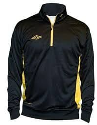 Umbro bluza Adnan 1/2 ZIP Jr Black/yellow M