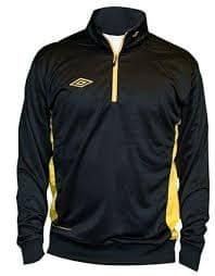 Umbro bluza Adnan 1/2 ZIP Jr Black/yellow 140