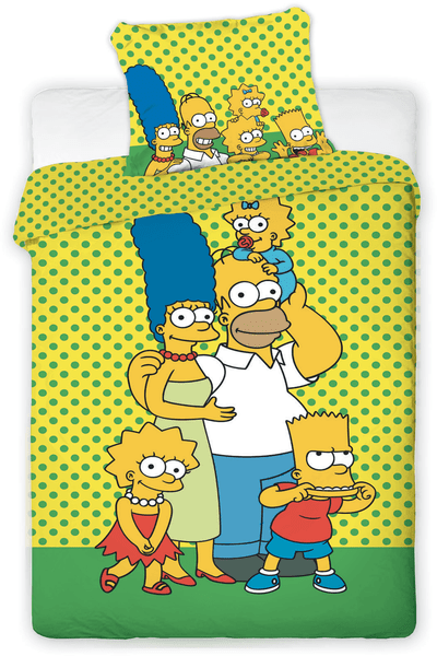 Jerry Fabrics povlečení Simpsons yellow 140x200 70x90