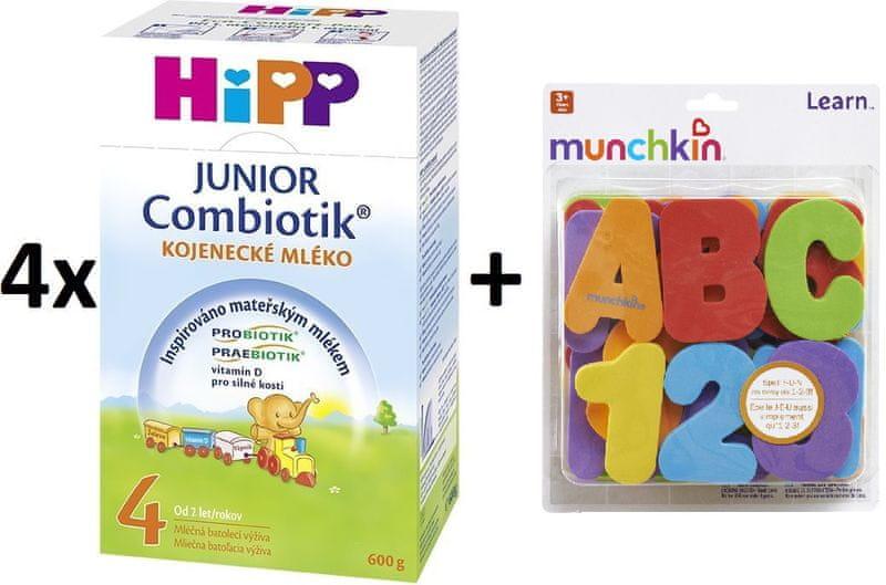HiPP 4 Junior Combiotic - 4 x 600g + Munchkin písmena