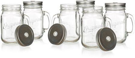 Banquet MADEIRA fedeles embosszált üveg bögre 450 ml, 6 db
