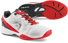 Head otroški teniški copati Nitro, belo-rdeči