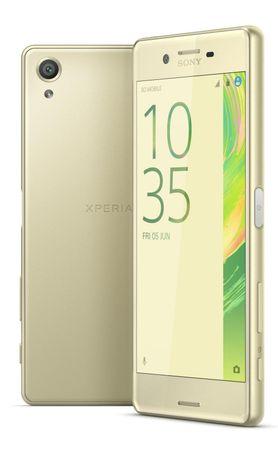 SONY Xperia X Single SIM Mobiltelefon, Lime Gold