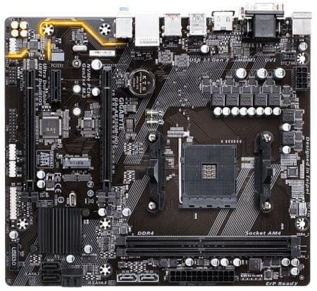 Gigabyte osnovna plošča GA-AB350M-HD3, DDR4, SATA3, USB3.1Gen2, AM4 ATX