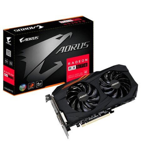 Gigabyte grafična kartica Radeon RX 570 OC Aorus, 4GB GDDR5 (GV-RX570AORUS-4GD)