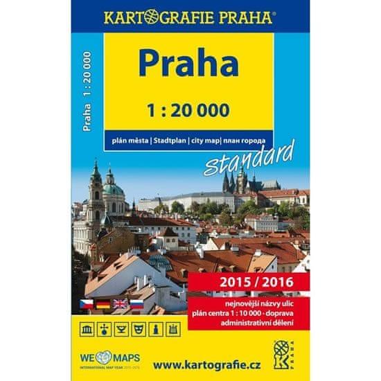 Praha - 1:20 000 plán města standard