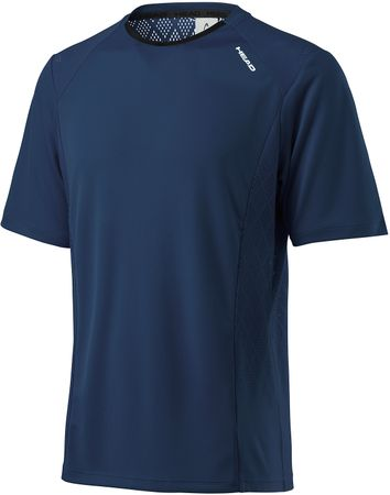 Head kratka športna majica Performance Crew, modra, L