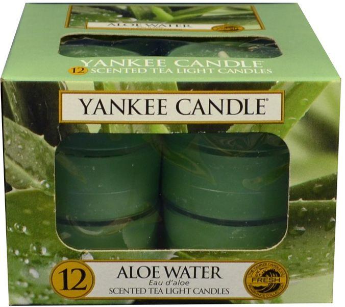 Yankee Candle Čajové svíčky Aloe Water 12x 9,8 g