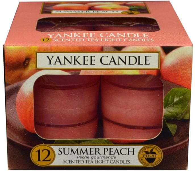 Yankee Candle Čajové svíčky Summer Peach 12x 9,8 g