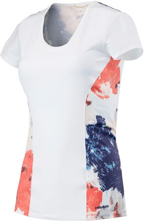 Head Vision Graphic Shirt W White Coral XS