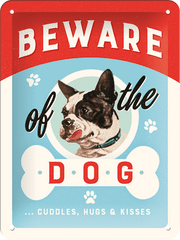 Postershop Blaszany znak Beware of the Dog