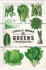 Postershop Blaszany znaczek Localy Grown Greens