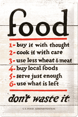 Postershop Blaszany znaczek Food Rules