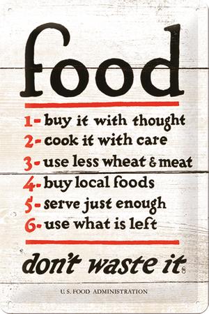 Postershop pločevinasta tabla Food Rules