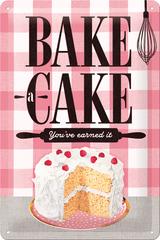 Postershop Blaszany znaczek Bake a Cake