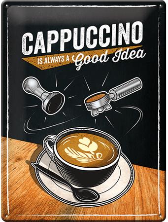 Postershop pločevinasta tabla Cappuccino