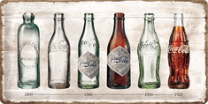 Postershop Metalowa tabliczka Coca-Coca butelka