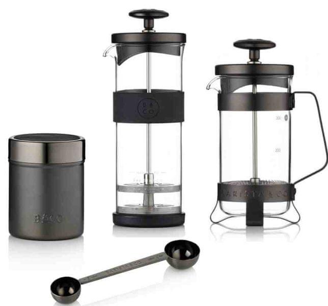 BARISTA&CO dárková sada pro přípravu kávy Gunmetal