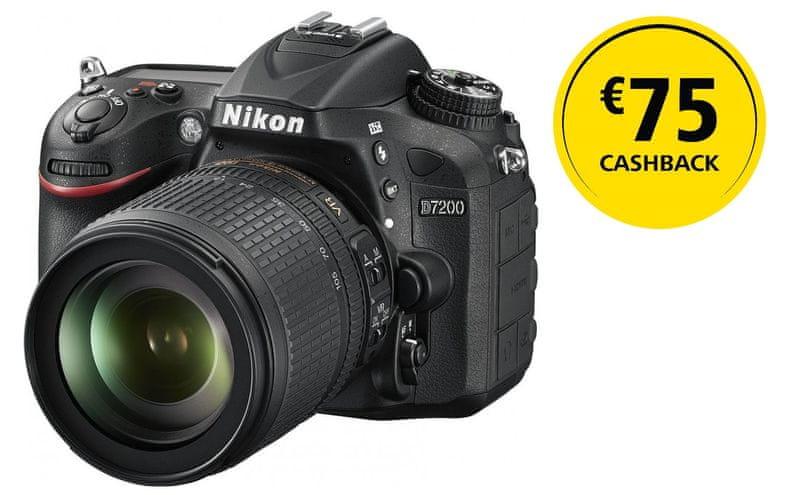Nikon D7200 + 18-105 mm - II. jakost