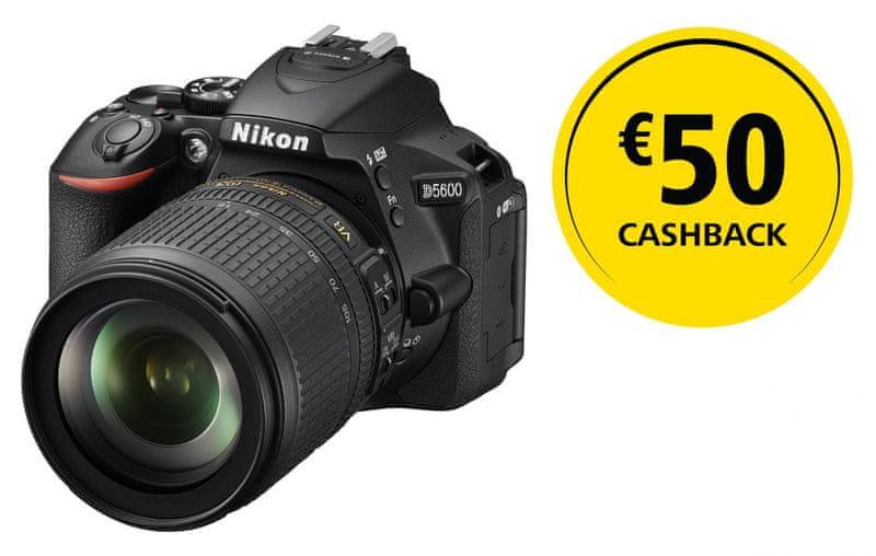 Nikon D5600 + 18-105 AF-S VR + 1350 Kč od Nikonu zpět!