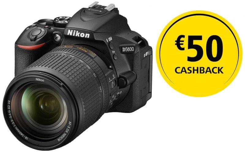 Nikon D5600 + 18-140 AF-S VR + 1350 Kč od Nikonu zpět!
