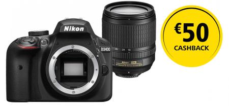 Nikon D3400 + 18-105 VR + 1350 Kč od Nikonu zpět!
