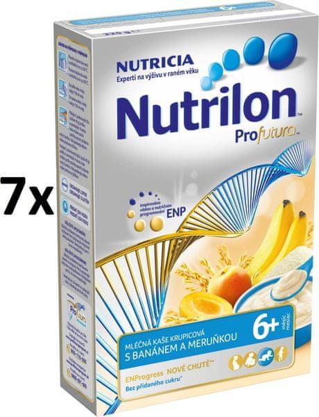 Nutrilon Mléčná kaše krupicová s banánem a meruňkou - 7 x 225g