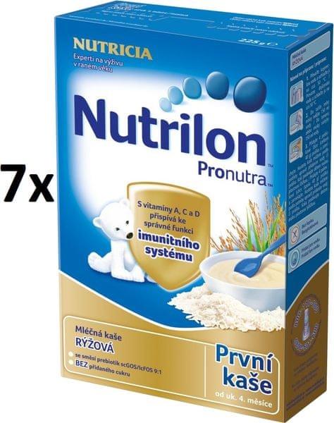 Nutrilon Mléčná kaše rýžová - 7 x 225g