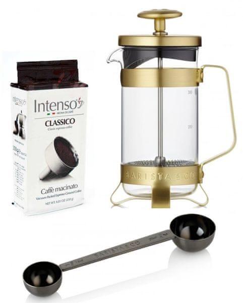 BARISTA&CO dárková sada pro přípravu kávy Electric Gold
